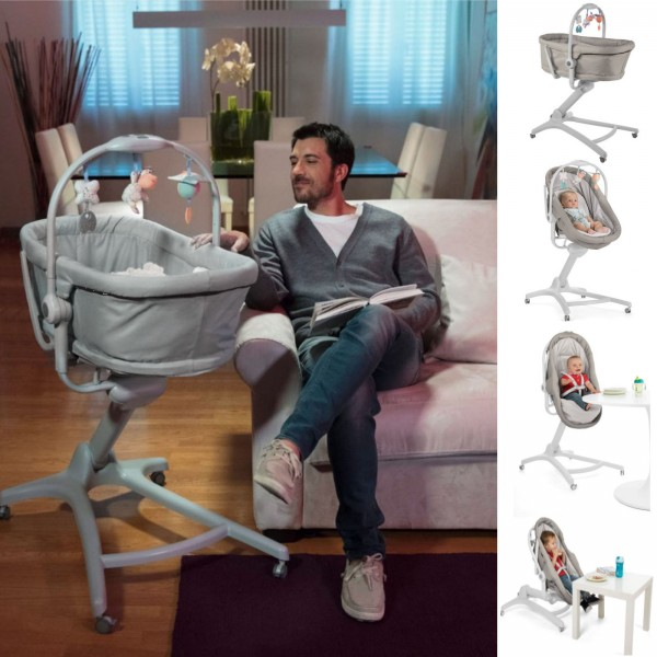Chicco 4in1 Baby Hug Crib / Seat and Mattress - Legend