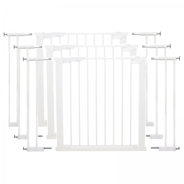 Babydan Wide Premier Pressure Indicator Baby Safety Gate (Pack of 3) - White (73.5 - 106.3cm)