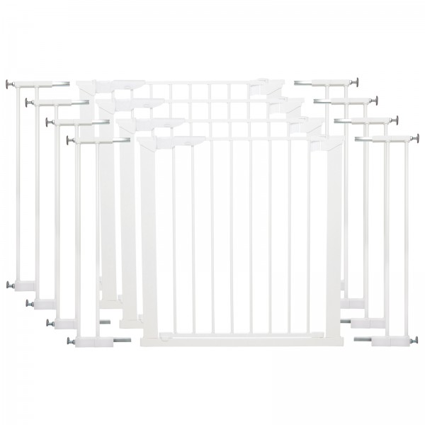 Babydan Wide Premier Pressure Indicator Baby Safety Gate (Pack of 4) - White (73.5 - 106.3cm)