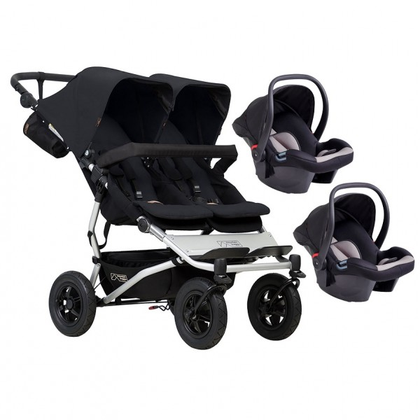 Mountain Buggy Duet V3 Double Travel System - Black