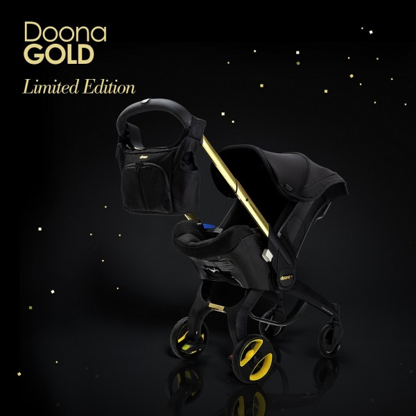 Doona Infant Car Seat / Stroller *Special Edition* - Black and Gold