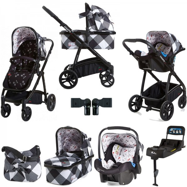 Cosatto Wow 3 in 1 Combi Travel System With Accessories & Isofix Base - Mademoiselle