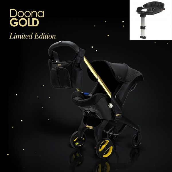 Doona Infant Car Seat / Stroller With ISOFIX Base *Special Edition* - Black and Gold