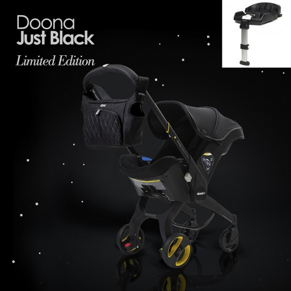 Doona Infant Car Seat / Stroller With Base *Special Edition* - Just Black