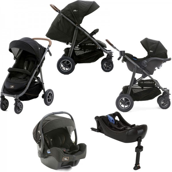 Joie Limited Edition MyTrax Flex (I-Gemm) Travel System and Base - Signature Noir