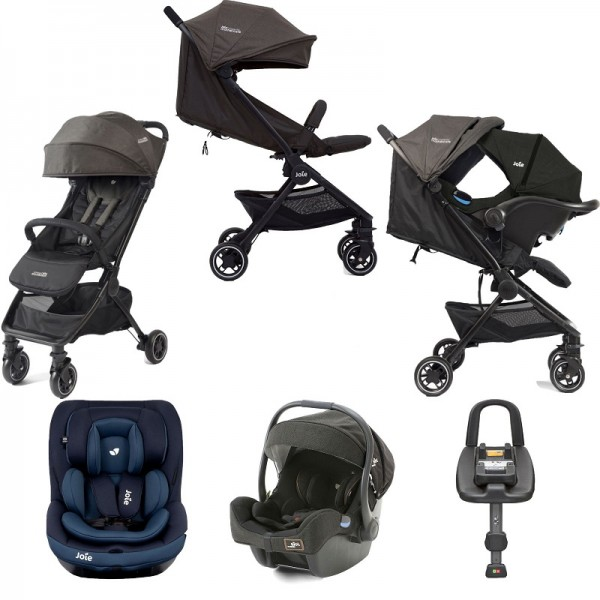 Joie Mothercare Pact Travi (i-Gemm & i-Venture) Travel System with Isofix Base Bundle - Ember