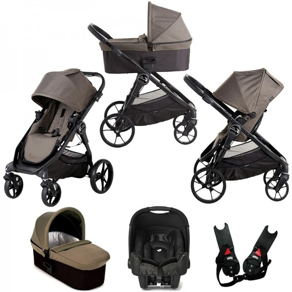 Baby Jogger City Premier (Gemm) Travel System with Carrycot - Taupe