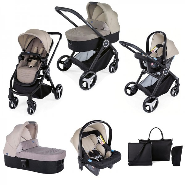 Chicco Trio Best Friend 3-in-1 Travel System and Changing Bag - Beige