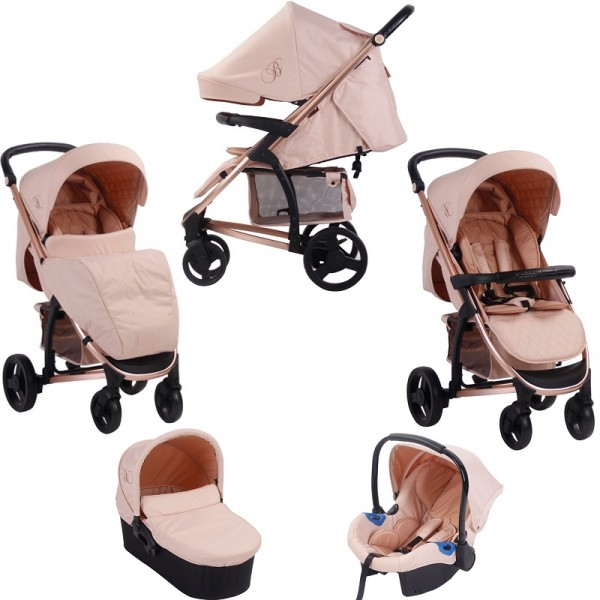 My Babiie MB200+ *Billie Faiers Collection* Travel System & Carrycot - Rose Gold & Blush
