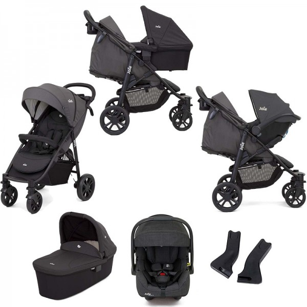 Joie Litetrax 4 Wheel (i-Gemm 2) Travel System with Carrycot - Coal