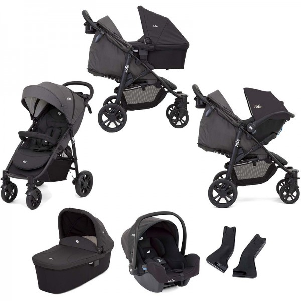 Joie Litetrax 4 Wheel (i-Snug) Travel System with Carrycot - Coal