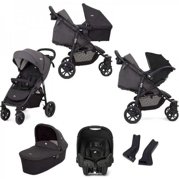 Joie Litetrax 4 Wheel (Gemm) Travel System with Carrycot - Coal
