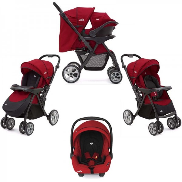 Joie Extoura Travel System - Cherry Red