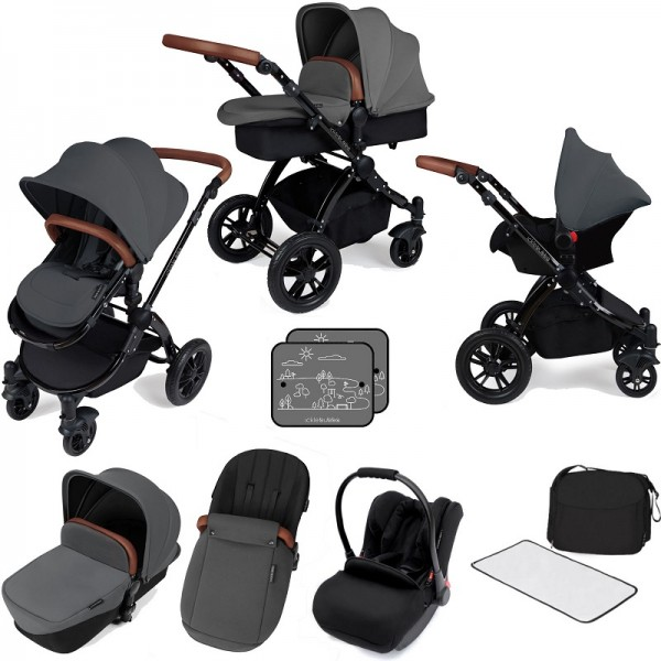 Ickle bubba Stomp V3 Black All In One Travel System (No Base) - Graphite Grey