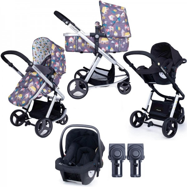 Cosatto Giggle Mix Pramette (Hold) Travel System - Hygge Houses Grey