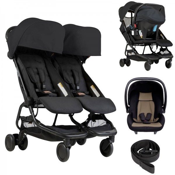 Mountain Buggy Nano Duo Travel System Only - Black