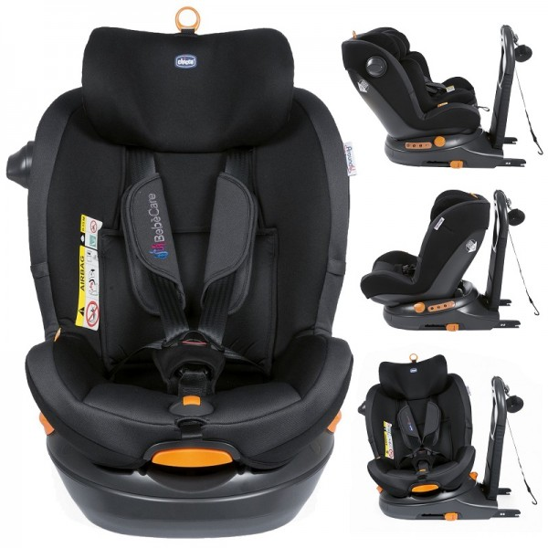 Chicco Around U Bebecare Group 0+/1 i-Size 360 Spin ISOFIX Baby Car Seat - Jet Black